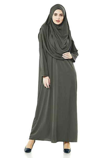 İhvan Haki Tek Parça Kadın Namaz Elbise - 5015