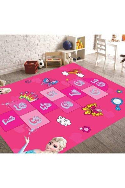 Herms Elsa Seksek 5 Kaymaz Taban Oyun Çocuk Odası Halısı 100x200