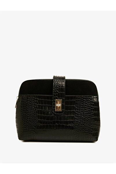 Koton Kadın Siyah Desenli Çanta