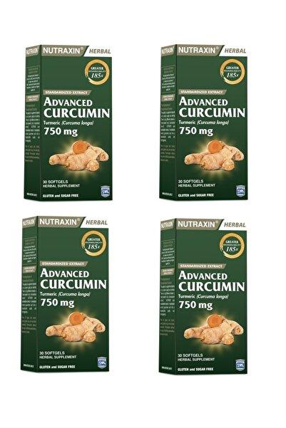 Nutraxin Advenced Curcumın Zerdeçal Ekstresi Içeren Takviye Gıda 30 Kapsül 4 Adet
