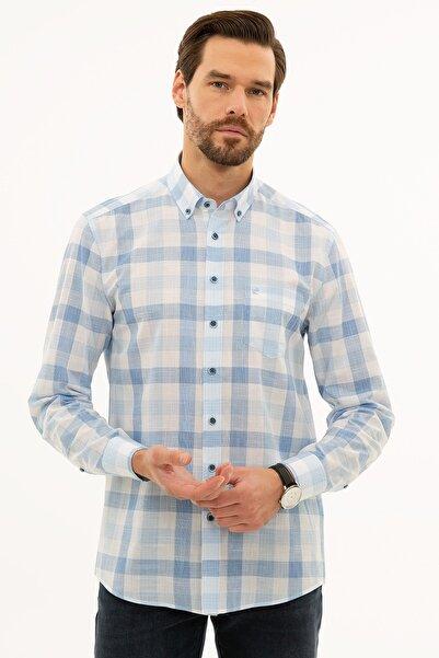 Pierre Cardin Erkek Açık Mavi Regular Fit Gömlek