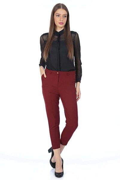 Mossta Kadın Bordo Klasik Pantolon