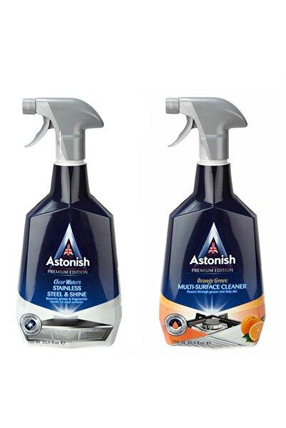 Astonish Paslanmaz Çelik Temizleyici + Portakallı Temizleyici 750 Ml