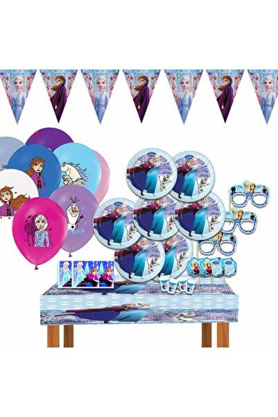 DISNEY Frozen Karlar Ülkesi Elsa Doğum Günü Parti Malzemeleri Süsleri Seti Frozen Elsa Süs 8 Kişilik