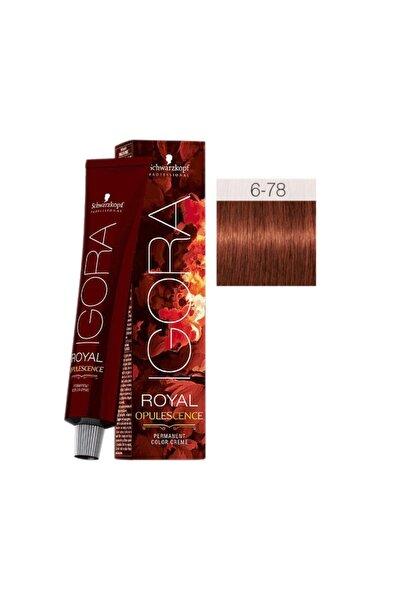 SCHWARZKOPF HAIR MASCARA Igora Royal Opulescence 6-78 Koyu Kumral Bakır Kızıl
