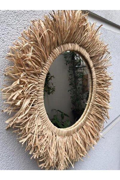 Cs Bohem Design Zambia Doğal Rafya Ayna Dekor - 40 Cm
