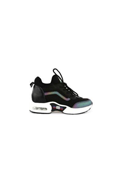 Guja Unisex Siyah Trend Sneakers Spor Ayakkabı
