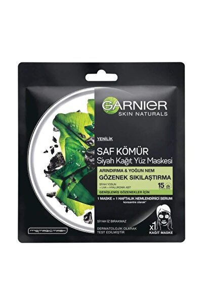 Garnier Garnıer Saf Kömür Siyah Kağıt Yüz Maskesi