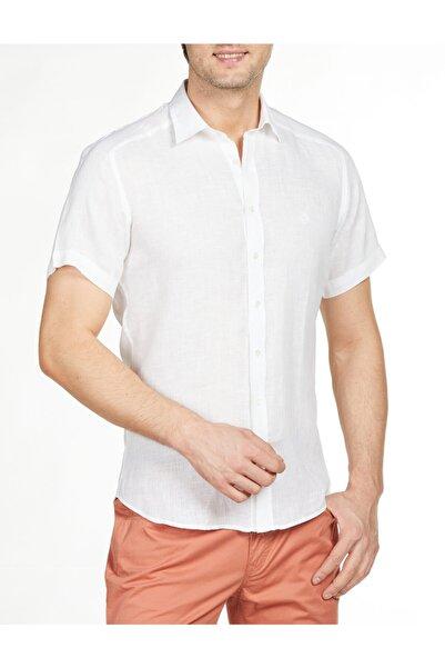 Bisse Erkek Beyaz Kısa Kollu Küçük Yaka Spor Gömlek