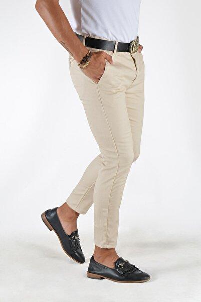 Terapi Men Erkek Krem Slim Fit Keten Pantolon