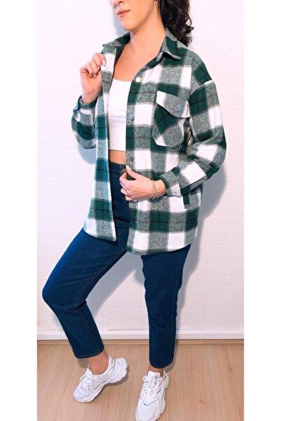 ElModa Boutique Kadın Yeşil Oduncu Gömlek