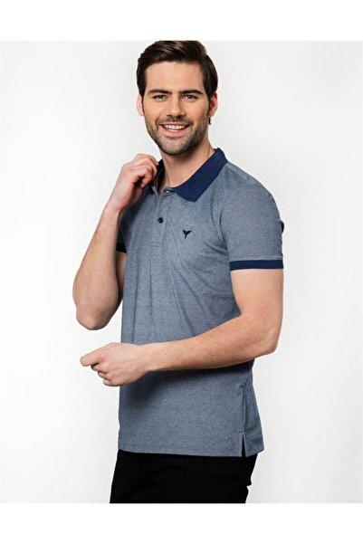 Tudors Erkek Gri Slim Fit Polo Yaka Spor T-shirt