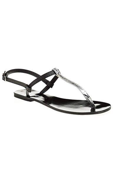 David Jones Kadın Siyah Lame Parmak Arası Sandalet