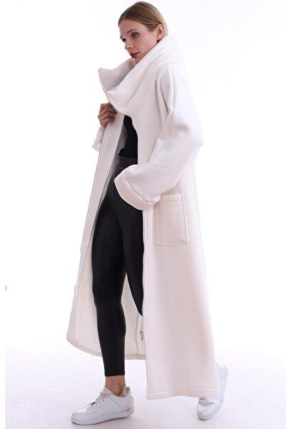 zuzuva Kadın Beyaz Pardesü