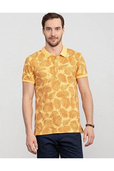 Tudors Erkek Sarı Slim Fit Polo Yaka T-shirt