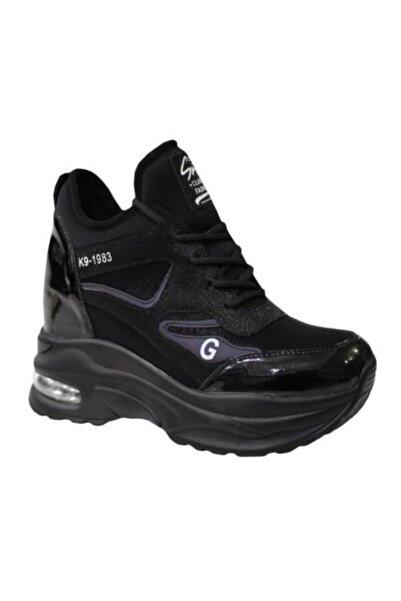 Guja 20k333-3Kadın  Siyah Anatomik  Ayakkabı Bot Gizli Topuk