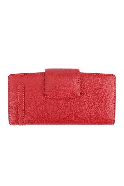 Guzini Kadın Deri Cüzdan 3670 Kırmızı