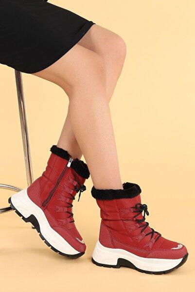 Ayakland Twg 7455 Kışlık Içi Termal Kürklü Bayan Ayakkabı Kar Botu