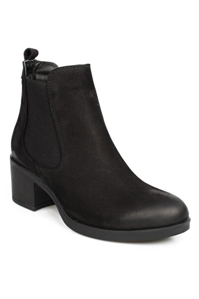 Stella Kadın Siyah Casual Topuklu Bot 21145 Z
