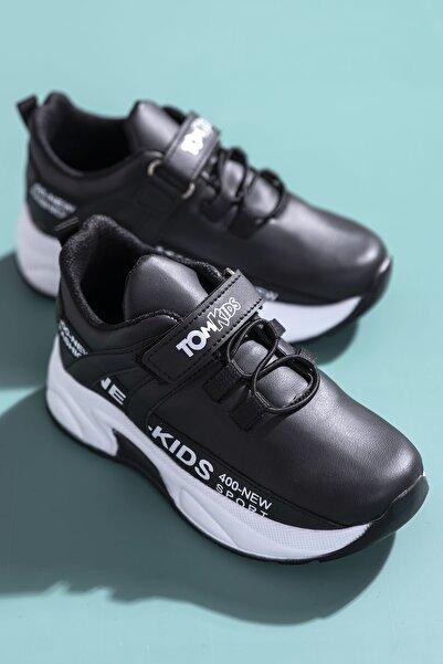 Tonny Black Unisex Çocuk Siyah Spor Ayakkabı Dg674