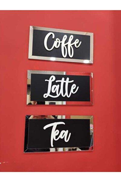 AHŞAP ATÖLYE Cafe Tabloları Coffe Latte Tea