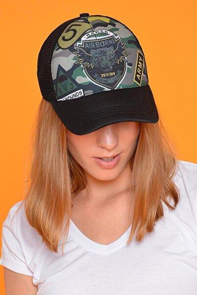 Mossta Unisex Siyah Desenli Tigers Şapka