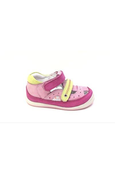Perlina Kız Çocuk Pembe Ortopedik Hakiki Deri İlk Adım Ayakkabı3000-6