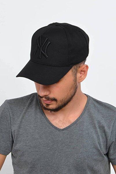 Mossta Erkek Siyah New York Ny Nakışlı Şapka