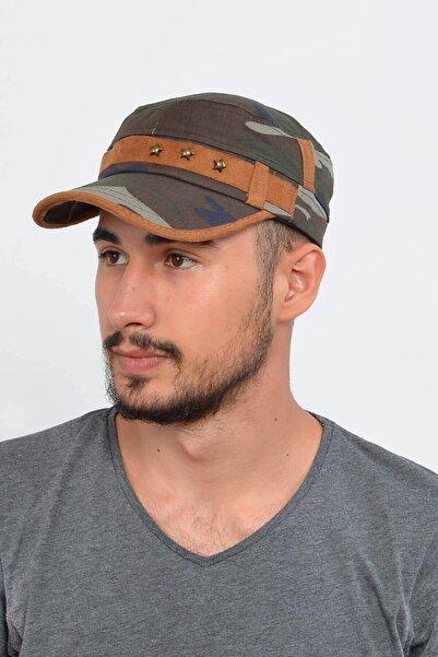 Mossta Erkek Haki Kamuflaj  Şapka