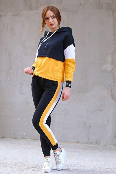 Modaymış Kadın Sarı İki İplik Eşofman Takımı 8122.1005
