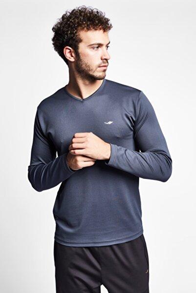 Lescon Erkek Antrasit Uzun Kollu T-Shirt 19s-1225-19n