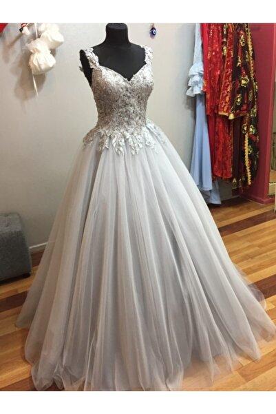 Özel Tasarım Kadın Gri Nişan Kına Kıyafeti