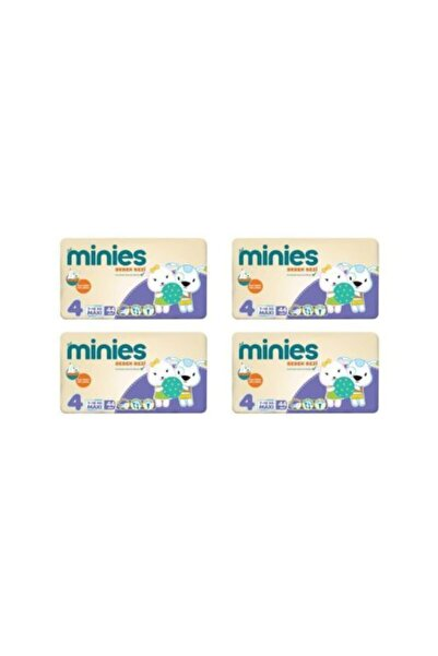 Minies 4 Numara 44x4 176 Adet Bebek Bezi 7-18 kg 4 lü Paket