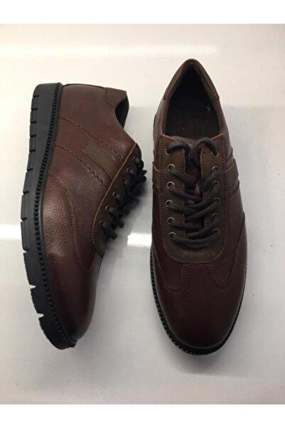 Şahin Erkek Kahverengi Günlük Hakiki Deri Ayakkabı 507