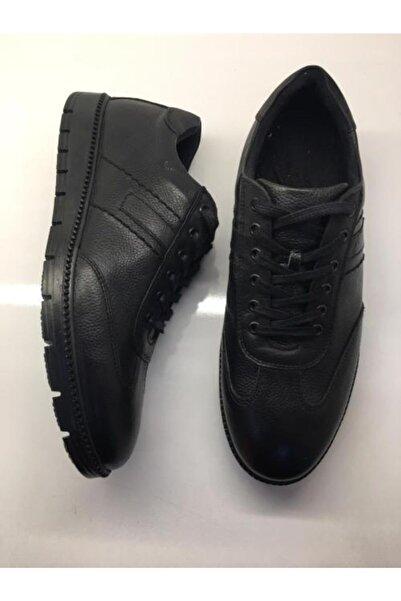 Şahin Erkek Siyah Günlük Hakiki Deri Ayakkabı 507