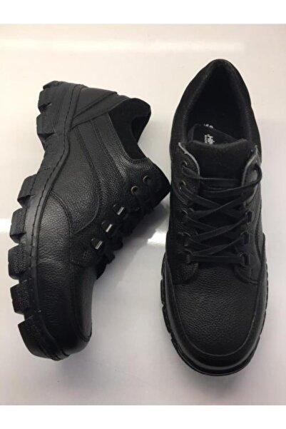 Şahin Erkek Siyah Günlük Hakiki Deri Ayakkabı 502
