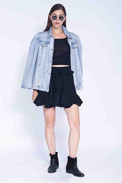 nisantasishop Kadın Mavi Kot Ceket
