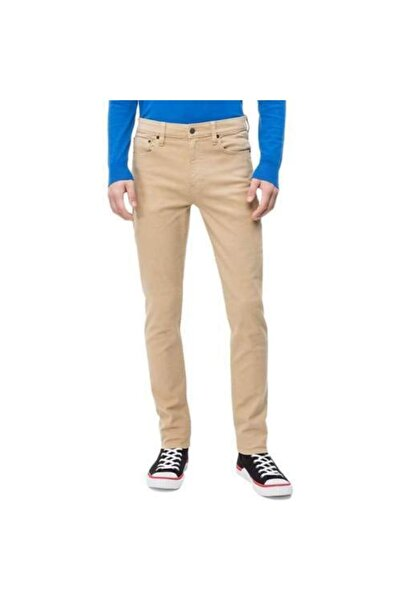 Calvin Klein Erkek Bej Pantolon Slım Stretch Twıll Pantolon 5pkt J30j310380