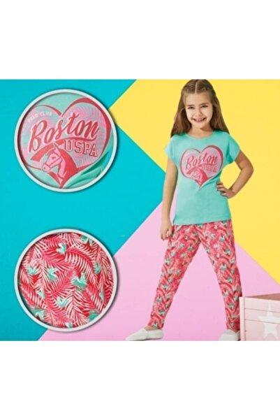 U.S. Polo Assn. Kids U.s.polo.assn Lisanslı Kız Çocuk Mint Yeşili Pijama Takımı