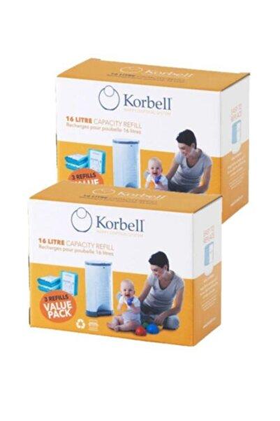 Korbell (orjinal) 2 Adet X 3 Paket (2970 Adet Kapasiteli) Bez Kapasiteli Çöp Poşeti