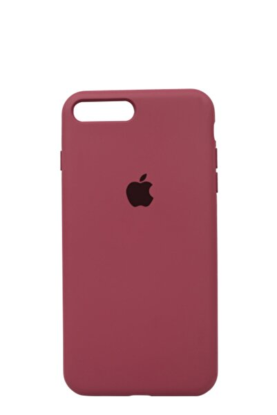 Mopal Apple Iphone 8 Plus Logolu Iç Yüzeyi Kadife Altı Kapalı 360° Tam Koruma Silikon Lansman Kılıf