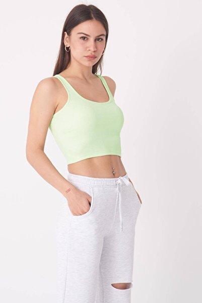 Addax Kadın Su Yeşili Fitilli Atlet A0938 - T7 Adx-0000022287