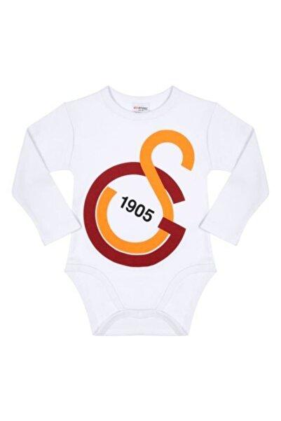 GSStore Bebek Sarı Kırmızı Galatasaray Büyük Logolu Uzun Kol Body