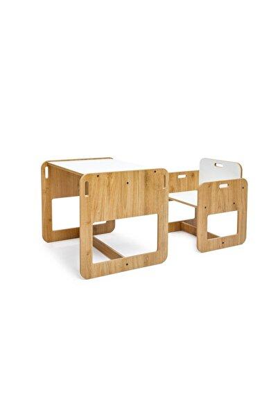 Drc Ahşap Çocuk Masa & Sandalye 2-4 Yaş Kumru Model