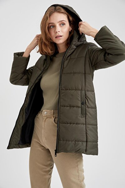 DeFacto Kapüşonlu Regular Fit Parka Kaban
