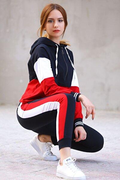 Modaymış Kadın Kırmızı İki İplik Eşofman Takımı 8122.1005.