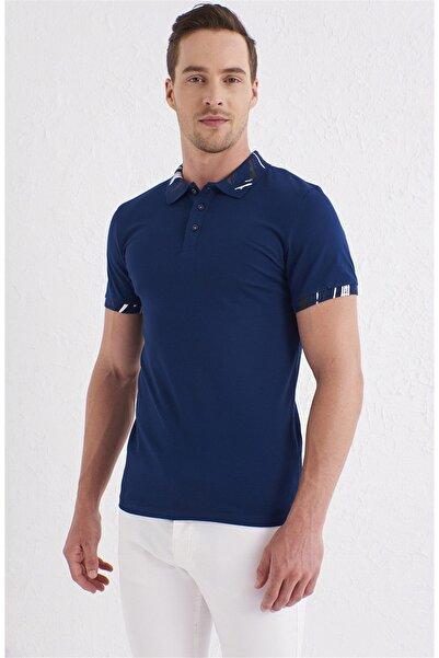Efor TS 755 Slim Fit Lacivert Spor T-Shirt