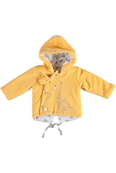 Bibaby Kız Bebek Sarı Lovely Rabbit Kapşonlu Hırka Ceket