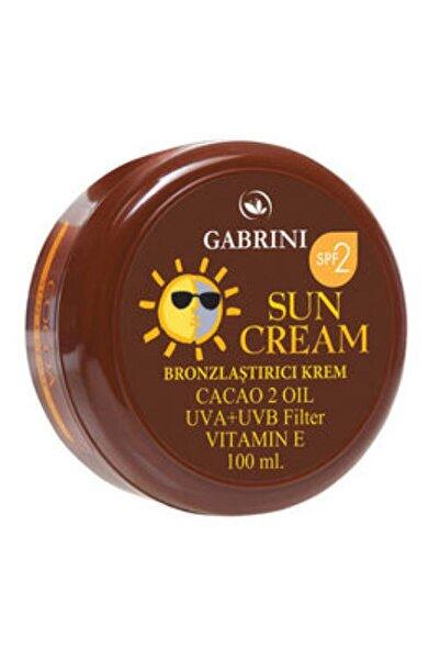 Gabrini Güneş Krem Bronzlaştırıcı Cacao 100ml