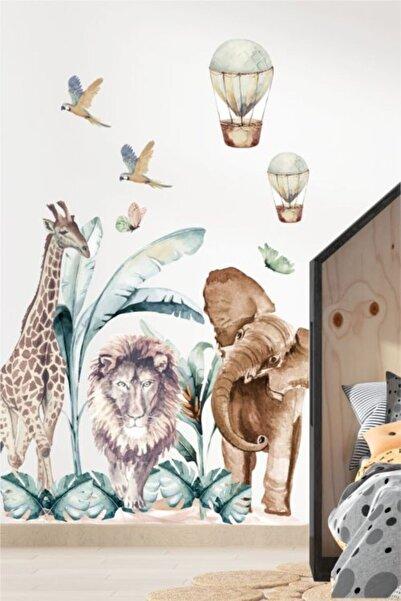 Piksel Grafik Afrikan Safari Çocuk Odası Duvar Sticker